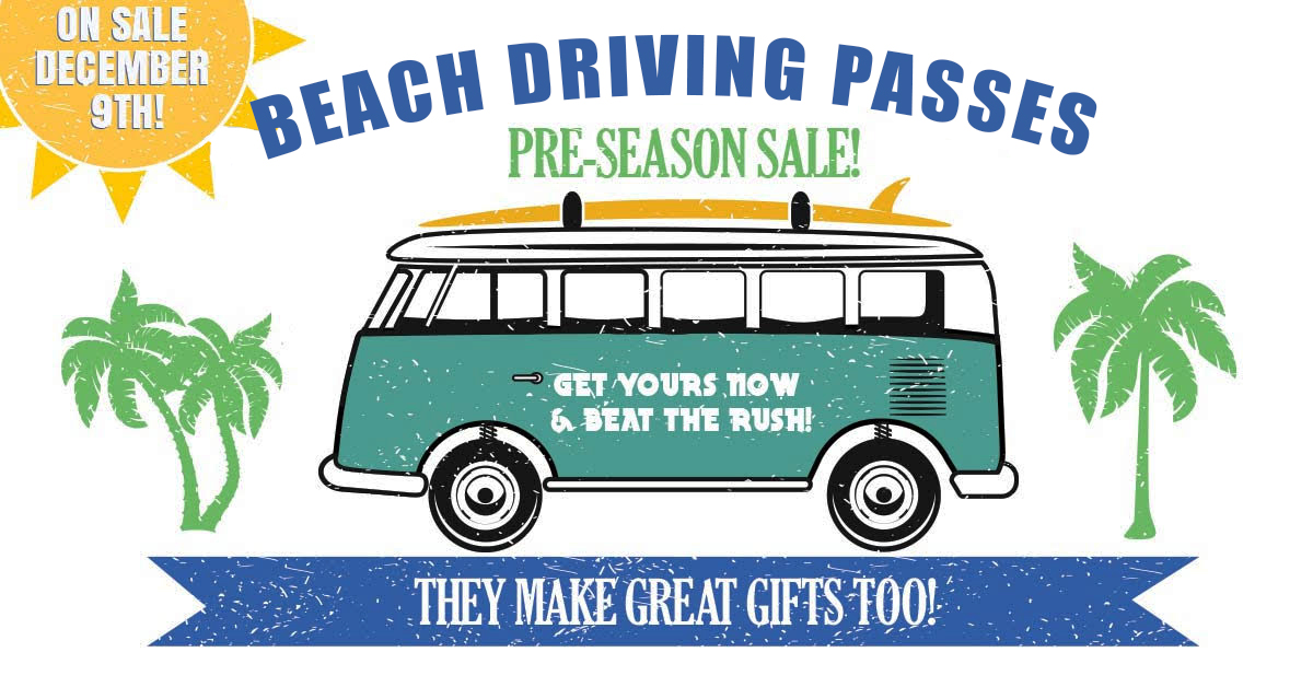 2020 St. Johns County Annual Beach Driving Passes On Sale December 9th