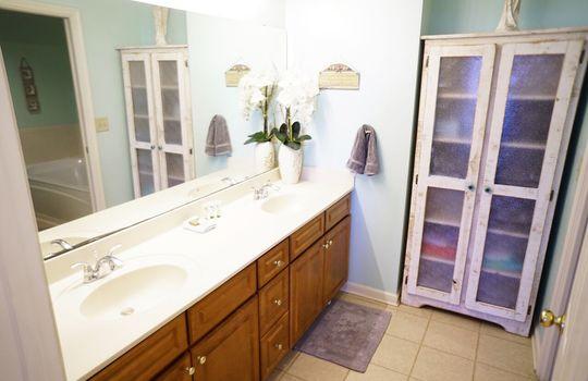 Master Bathroom Double Vanities