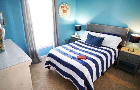 Queen Guest Bedroom Blue