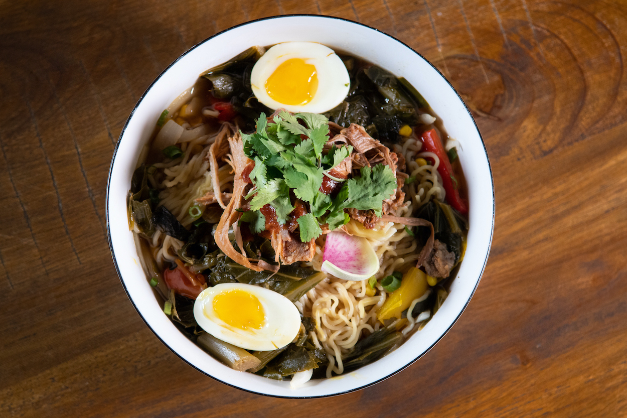View of delicious Ramen Bowl at Uptown Swinery in St Augustine