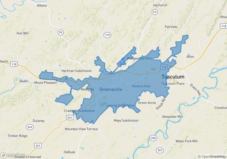 Greeneville Census Place - AgentFire Killer Website