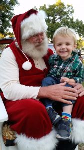 Santa Claus at Los Altos Holiday Event