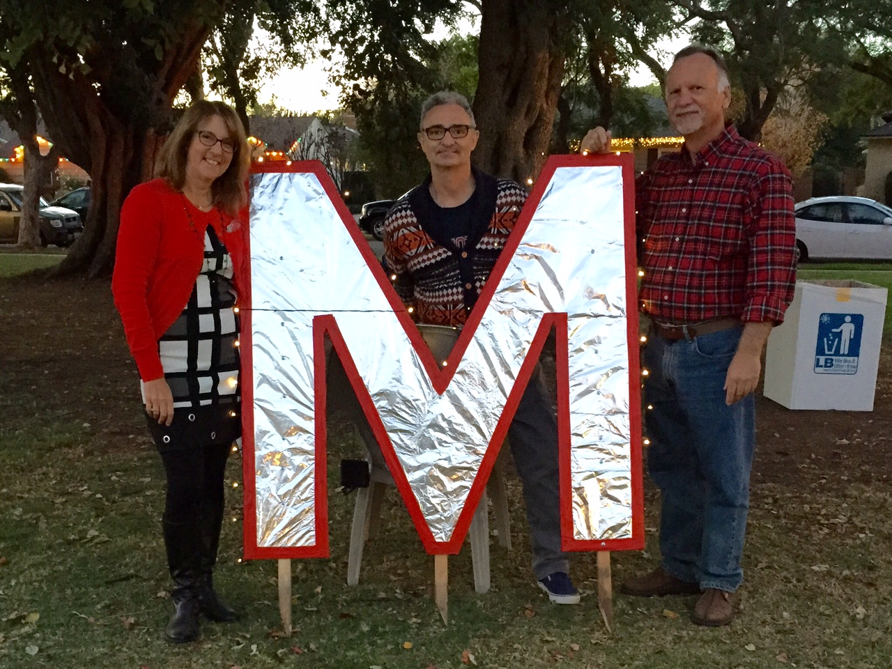 Lighting of the Letters Brighten the Holiday