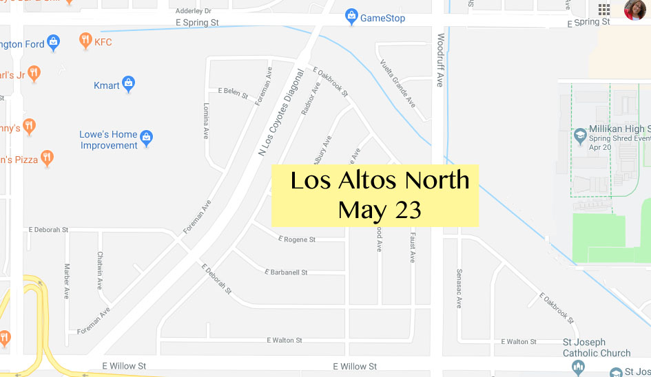 Los Altos North Yard Sale May 23, 2020
