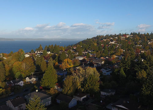 View of Bellevue from above