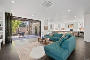 Living room with NanaWalls open