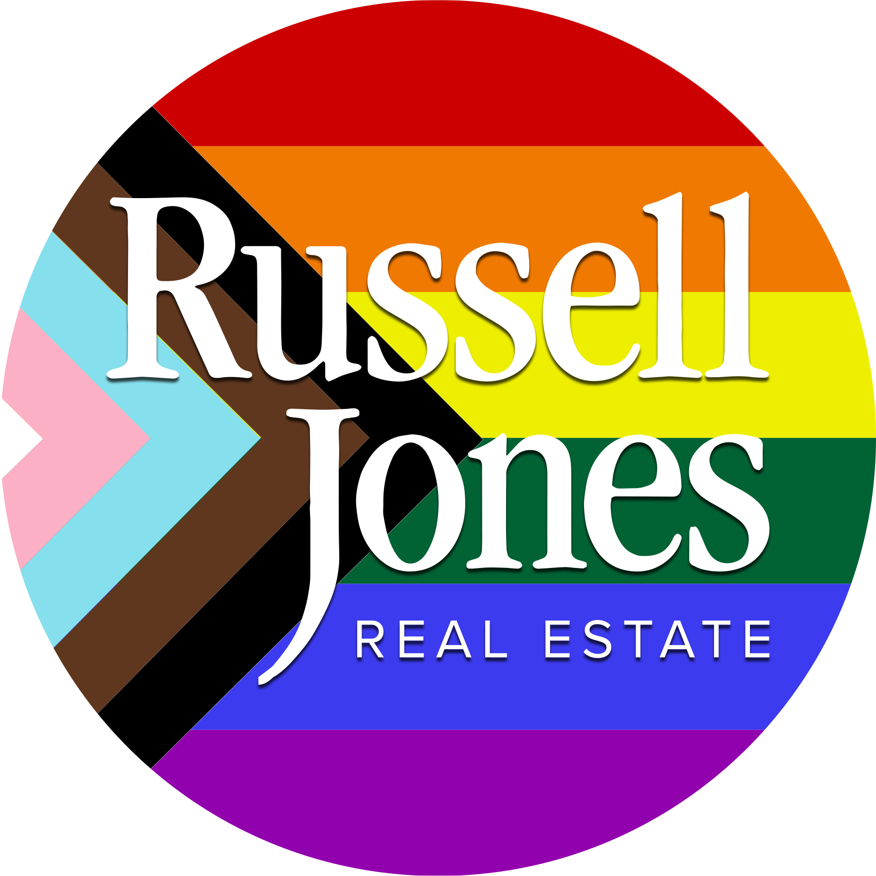 Russell Jones Real Estate BIPOC LGBTQ logo