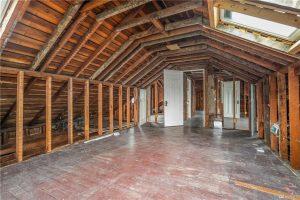 stripped attic
