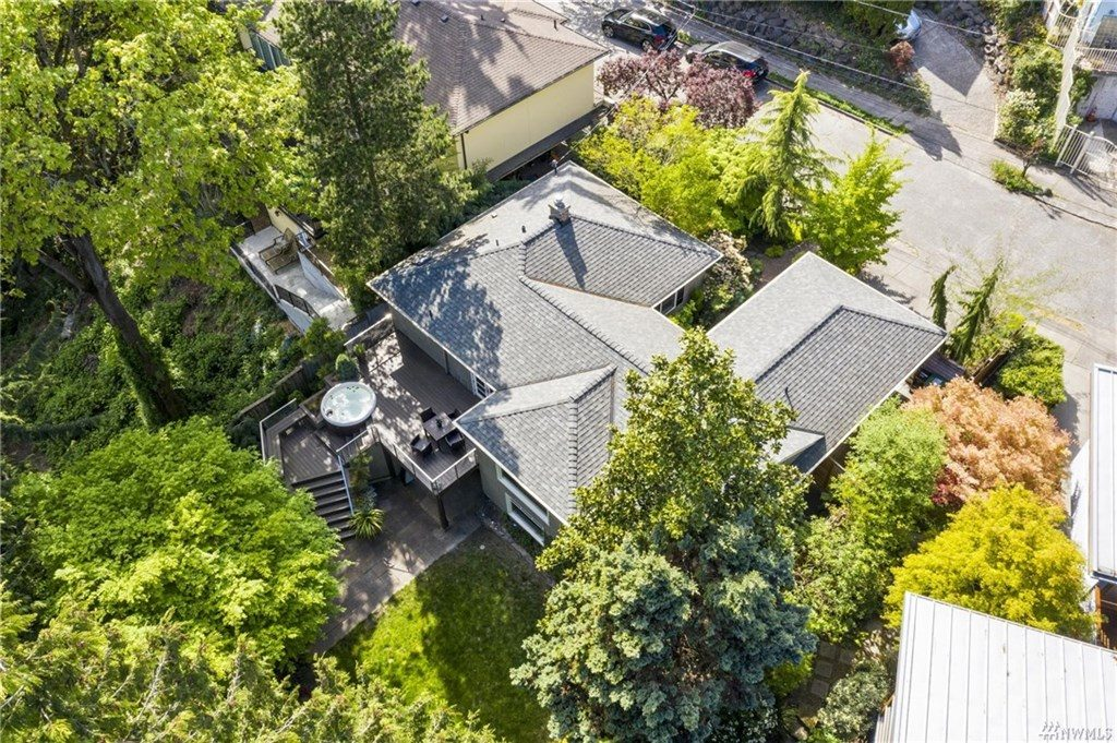 A bird's-eye view of the home