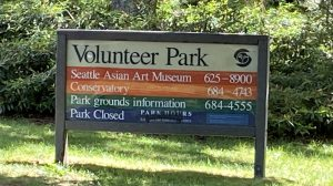 Volunteer Park Sign