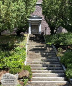 Stairway to the north entrance of the Volunteer Park Water Tower