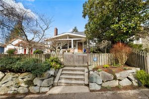 Front of the Montlake Craftsman bungalow