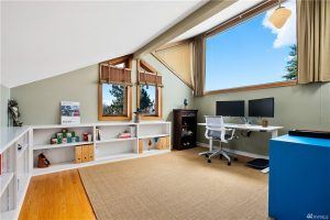 The versatile upstairs room is great as an office or anything else
