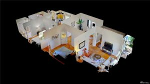 A 3D image of the home