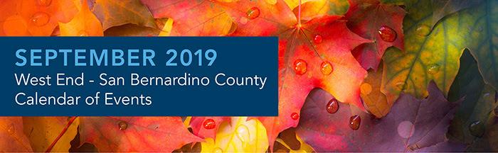 September 2019 - Calendar of Events - Inland Empire