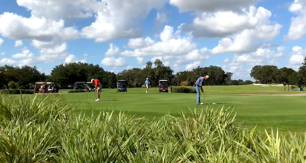Golfers playing in The Villages, FL