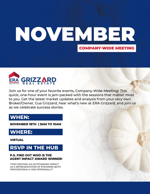November's Company Wide Meeting