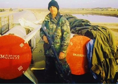 Missles outside Baghdad 4.2003