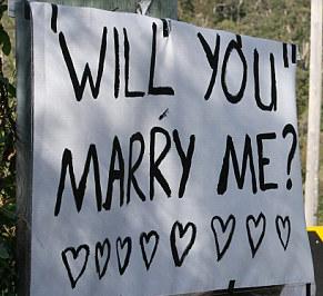 Wedding Proposal Sign
