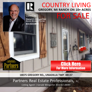 Gregory MI Ranch For Sale