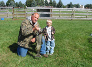 Ray Strzalkowski with grandson
