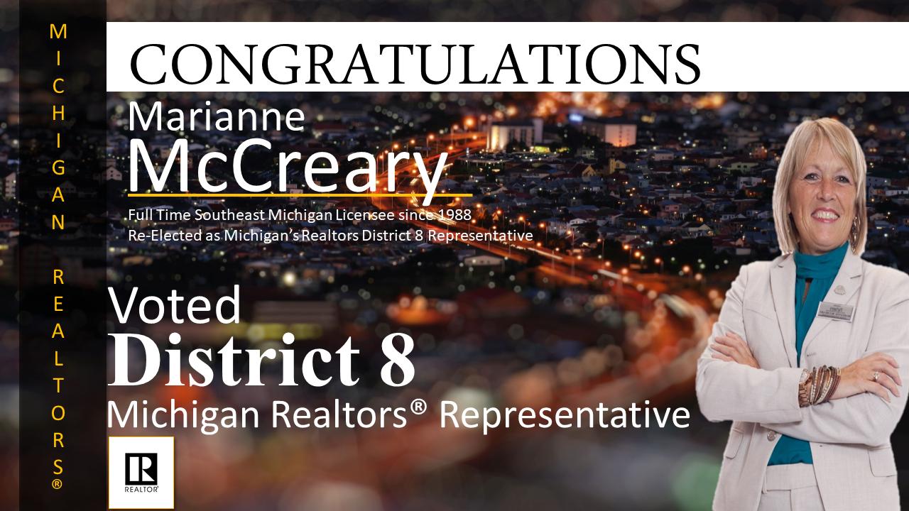 McCreary Michigan Realtors District 8
