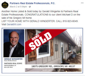 home sold by partners