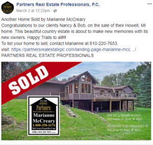 home listed and sold