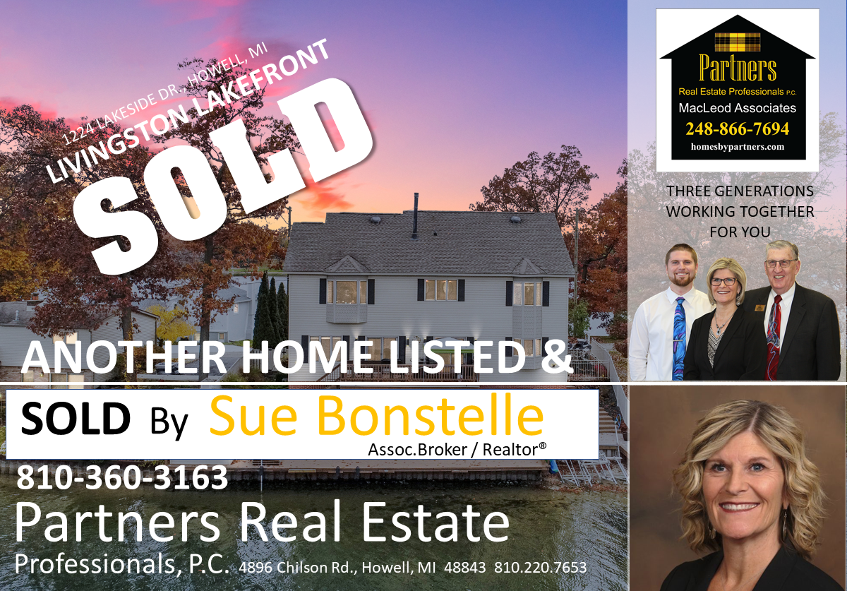 Lakefront Home Sold by Sue