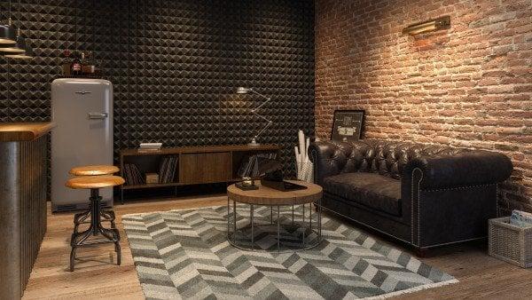 small finished basement