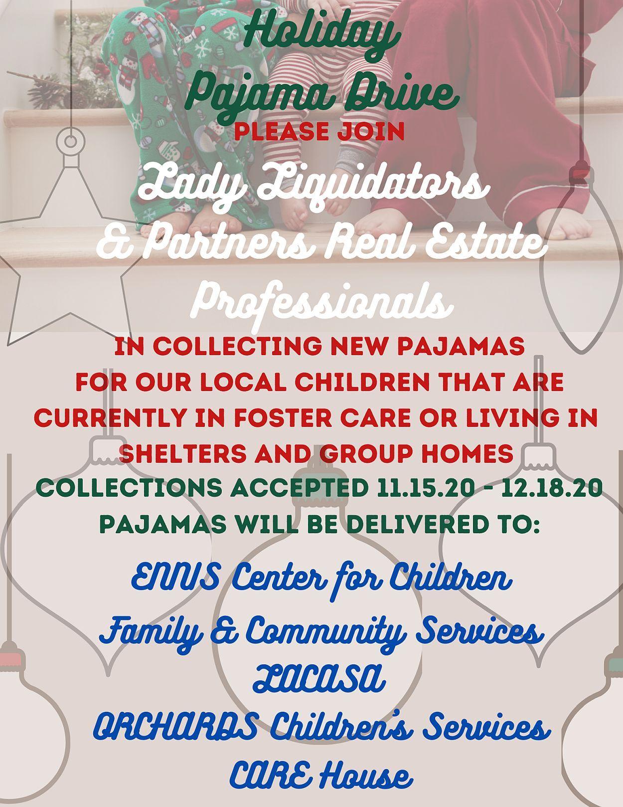 pajama donation