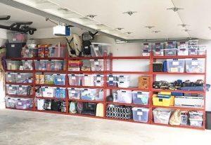 garage clear storage bins