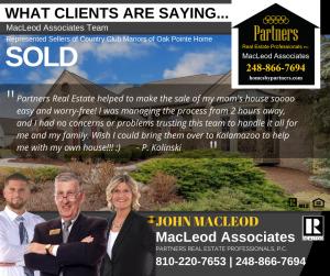 Client Testimonial of MacLeod Team