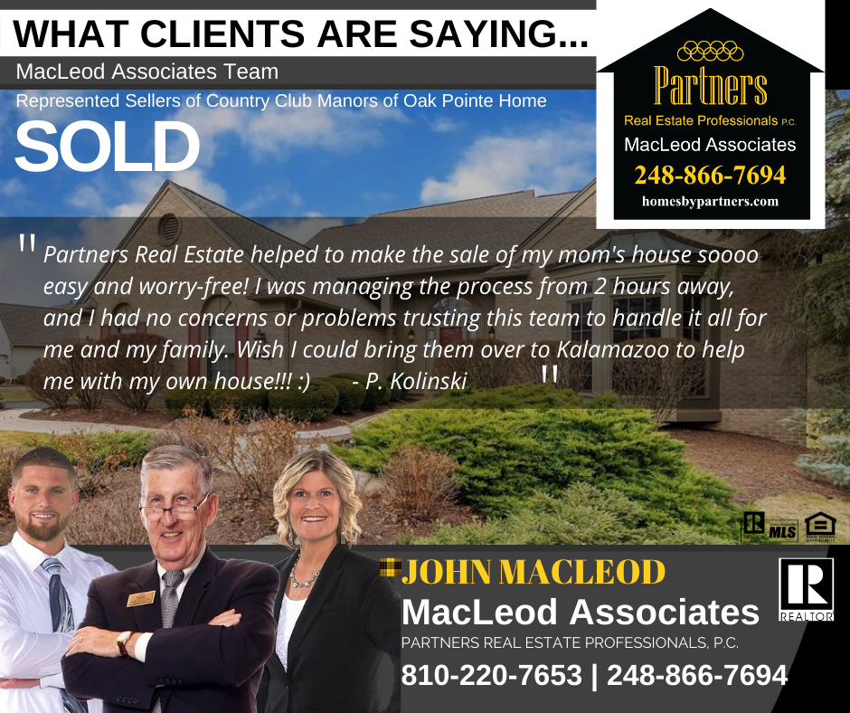 Client Testimonial of MacLeod Team