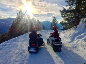 Snowmobiling Driggs Idaho