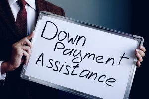 Down payment assistance written on white board