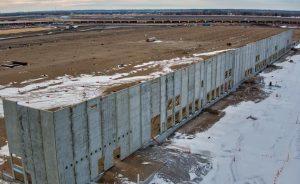 Amazon Fulfillment Center Fargo construction site 2021