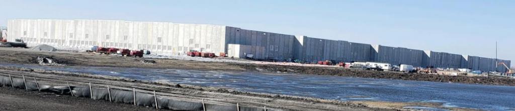 Amazon Fulfillment Center Fargo construction site in Spring 2021