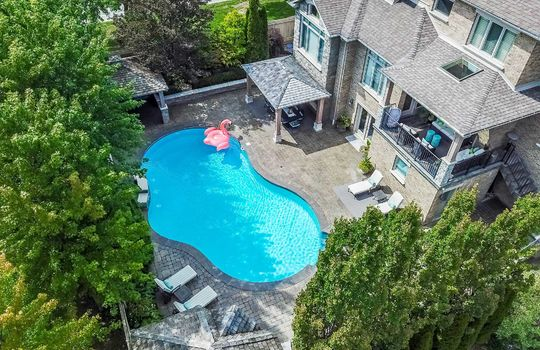 Back Yard Aerial – 1 Connie Crt, Whitby