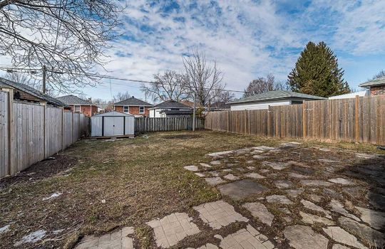 Backyard -308 Cadillac Ave South Oshawa