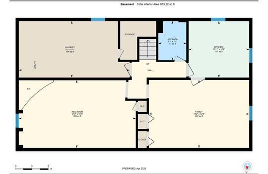 Floor Plans Basement- 361 Gliddon Ave., Oshawa