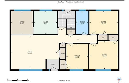 Floor Plans Main Floor - 361 Gliddon Ave., Oshawa