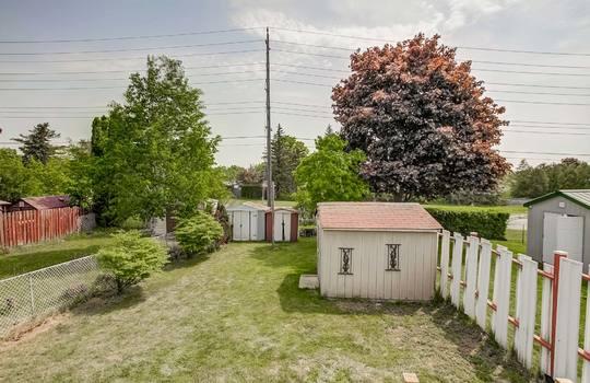 Back yard - 2080 Foxfarm Rd Peterborough