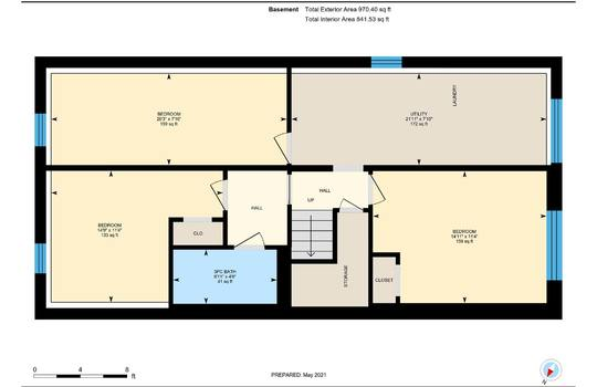 Basement Floor Plan - 2080 Foxfarm Rd Peterborough