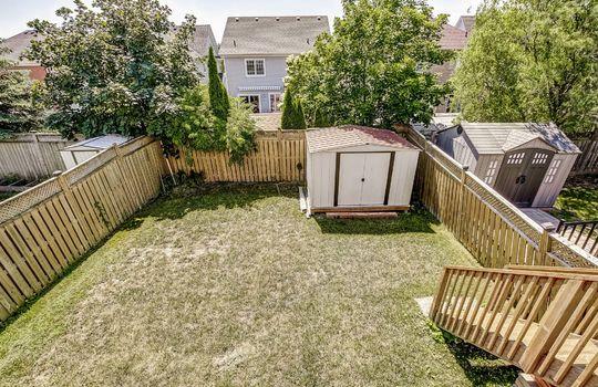 Backyard - 1676 Spencely Dr Oshawa