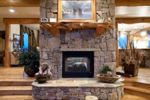 Fireplace at 30355 Marshall Ridge, Steamboat Springs, CO
