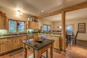 Kitchen island in 30450 Triple B Lane, Steamboat Springs, Colorado