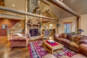 Living room in 30450 Triple B Lane, Steamboat Springs, Colorado