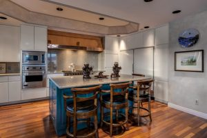 Image of the kitchen at the Penthouse at the Atriums