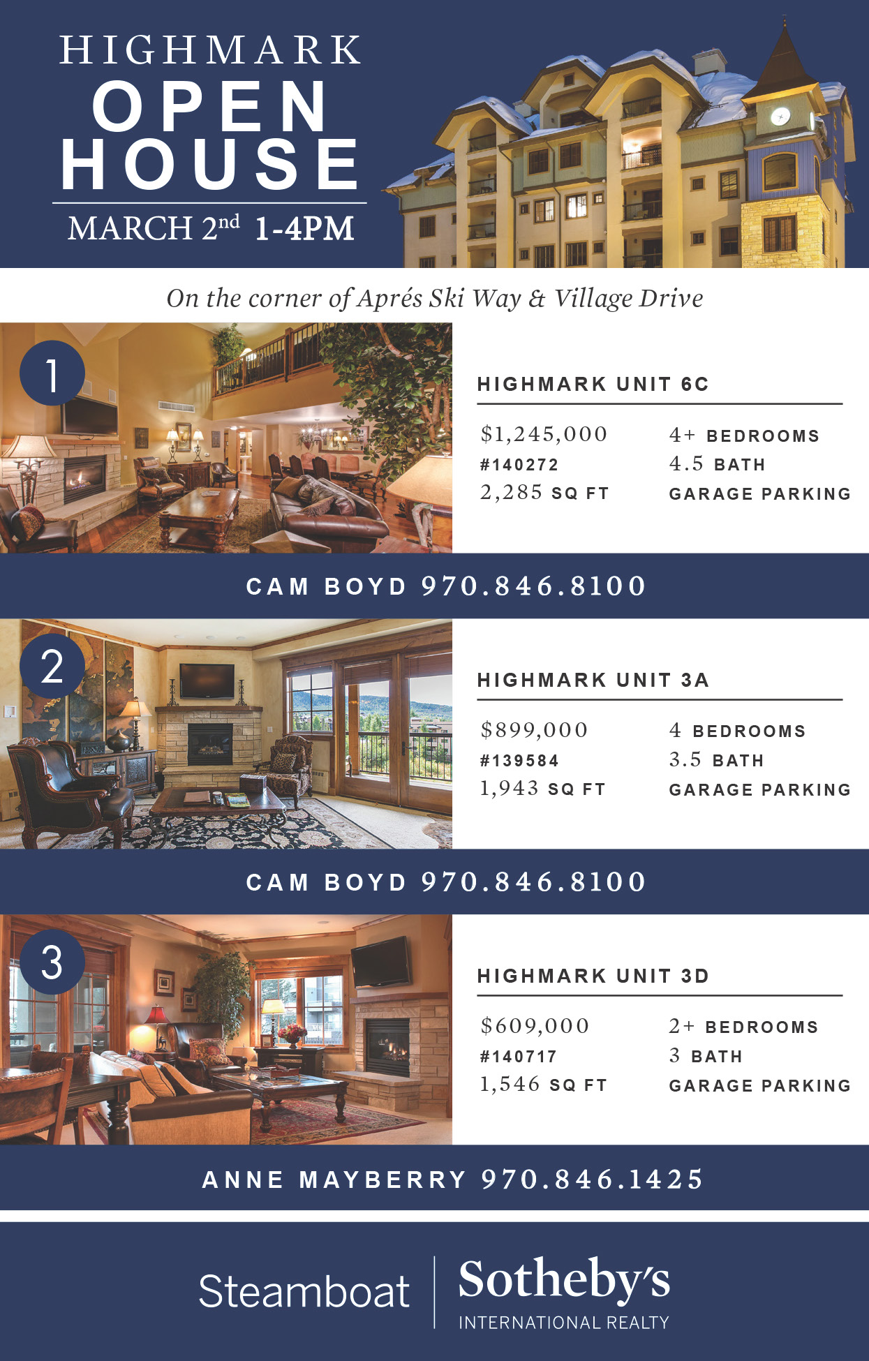 Image of Open House at the Highmark, Steamboat Springs CO